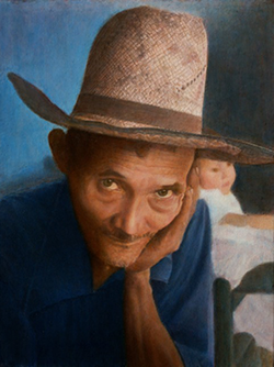Grandpa's Eyes Portrait by Alan Bell